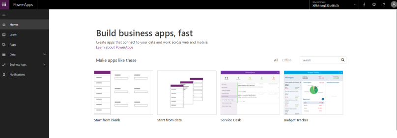Creating empty XRM Environment in PowerApps – Better CRM